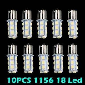 Hotsystem 10xcar Rv White 1156 Ba15s 5050 18smd Led Light Bulb 7503 1141 1073 Us
