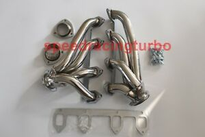 Stainless Shorty Header Exhaust Manifold For 330 360 390 428 Ford Big Block Fe