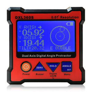 Axis Level Box Inclinometer Dual Axis Digital Angle Protractor Dxl360s