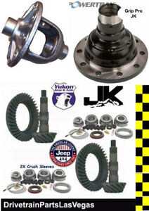 Yukon Jeep Wrangler Jk Ring Pinion Kits Gear Pkg 07 17 Dana 44 30 4 88 Posi
