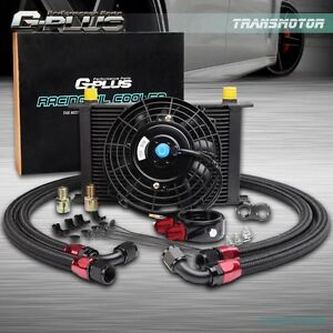 Universal 25 Row An10 Engine Transmission Oil Cooler Kit 7 Electric Fan Kit