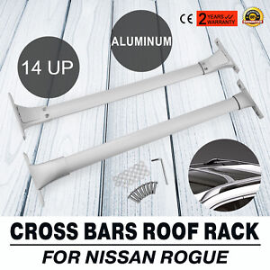 For 2014 2018 Nissan Rogue Roof Rack Cross Bar Rail Luggage Carrier