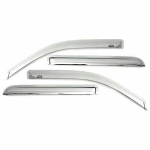 Auto Ventshade Window Chrome Ventvisor Deflector 4 Pc 684975