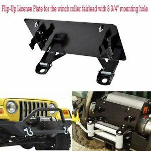 Flip Up Stainless Steel Mounting License Plate Holder For Winch Roller Fairlead