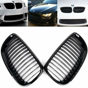 Glossy Black Front Kidney Grille For 2007 10 Bmw E92 3 series 328i 335i Coupe