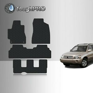 Toughpro Floor Mats 3rd Row Black For Toyota Highlander All Weather 2001 2007