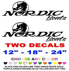 Nordic Boats Stickers Decals Any Color Any Size Fish Ski Marine