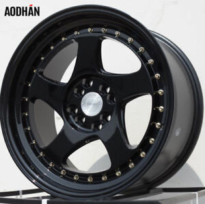 Aodhan Ah01 16x8 4x100 114 3 Et15 73 1 Gloss Black set Of 4