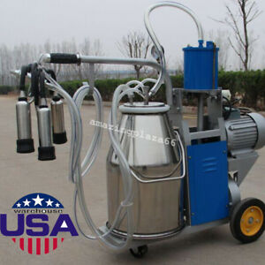 usa cow Milker Electric Piston Milking Machine For Cows Farm Bucket