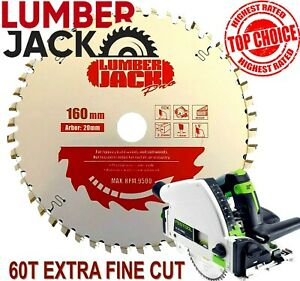 Lumberjack Pro 60 Tooth Tct Very Fine Wood Blade For Festool Ts55 Circular Saw