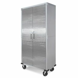 Seville Classics Ultrahd Tall Storage Cabinet Powder Coated Steel Cabinet