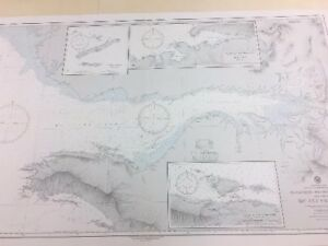 Vintage Hydrographic Map Nautical Chart Tandjoeng Sibaboe To Semai New Guinea