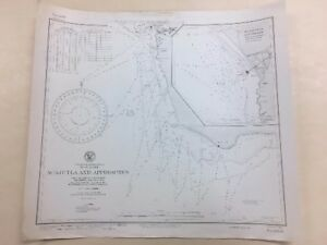 Vintage Hydrographic Map Nautical Chart Of Acajutla El Salvador