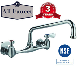 At Faucet Commercial Kitchen 8 Center Wall mount Faucet With 10 Spout