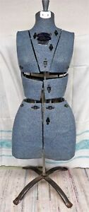 Vintage Sally Stitch Adjustable Dress Form Mannequin Size With Stand Size A