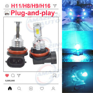 New 2x H8 H9 H11 H16 6000k White 100w Cree Led Headlight Bulbs Kit Fog Light Drl