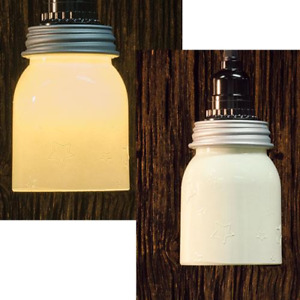 Primitive Farmhouse Cream Star Mason Jar Pendant Light Hanging Lamp With Stars