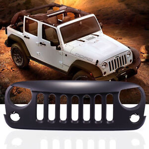 Black Front Angry Bird Grille For 2007 2017 Jeep Wrangler Jk Unlimited Rubicon
