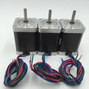 3pcs lot Flange 42mm Nema17 Stepper Motor L26 63mm For 3d Printer Cnc