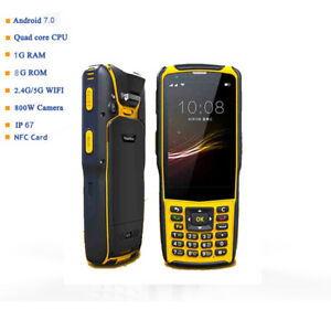 Factory Nfc 4g Rugged Pda Bluetooth Android Handheld 1d Laser Barcode Scanner