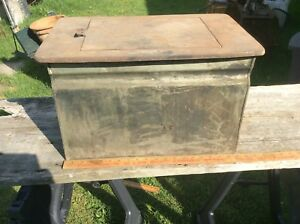 Antique Water Bin For Wood Cooking Stove Cast Iron Top And Brass