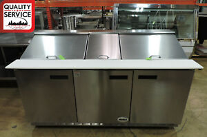 Delfield 4472n 30m Commercial Self contained Mega Top Refrigerated Prep Table