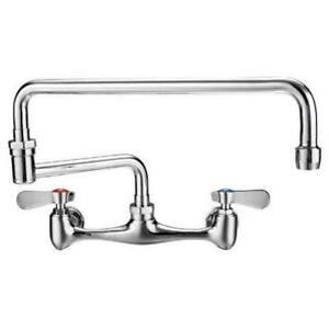 Commercial 8 Center Wall mount Faucet 18 Spout