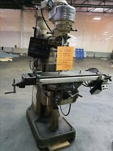 Bridgeport Series 1 Vertical Knee Mill B37014