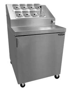 Nor lake Zf071sms 0 27 1 2in Ice Cream 8 Topping Cabinet W Freezer Base