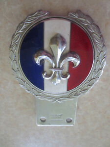 Vintage French Emblem Brass Car Badge For Renault Citroen Peugeot Jaguar Mg