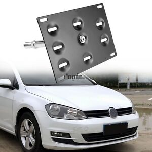 Auto Car Bumper Tow License Plate Mount Bracket Holder For Volkswagen Vw Golf
