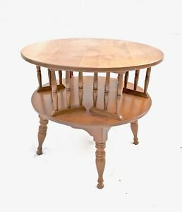 Baumritter Maple Rotating Side Accent Drum Table Ethan Allen