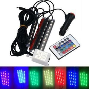 4in1 Car Charge Led Romantic Interior Rgb Light Accessories Foot Car Decorative