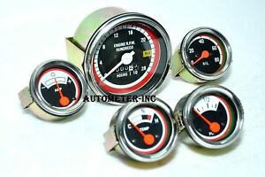 Oliver White Tachometer Gauge Kit 1750 1755 1850 1855 1950 1955 2050 2150