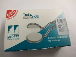 Dental Mouth Mirrors Double Side Rhodium Stem Stainless Steel 6 s No 4