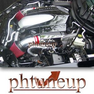 Red 2004 2008 Chrysler Crossfire 32 32l Dual Twin Air Intake Kit Systems