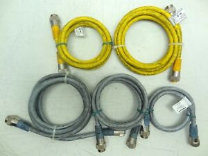 Lot Of 5 Assorted Turck Double Ended Connector Cables 4 5 Pin Male female