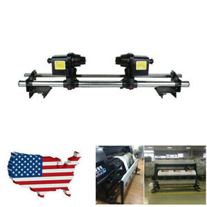 54 Automatic Media Take Up Reel System For Epson Roland Mimaki Mutoh two Motor