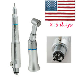 Fda Dental 4 Hole Slow Low Speed Handpiece Kits Push Contra Angle E type Motor