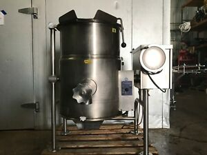 Cleveland Kgl 25 t Steam Jacketed Tilt Kettle Natural Gas 25 Gallon Tilting