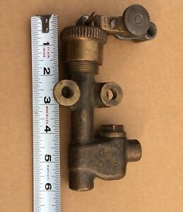 Ihc Brass Antique Hit And Miss Gas Engine 2 1 2 Hp Motor Fuel Pump International