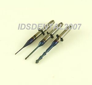 3 Pcs 2 1 0 6mm Dental Milling Bur Fit Vhf Dental Milling Machines Zirconia