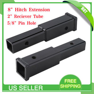 8 Hitch Extension Receiver Extender 2 Reciever Tube 5 8 Pin Hole Free Ship Mx