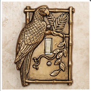 Parrot Single Light Switch Cover Gold Tropical Birds Home Decor $18.99