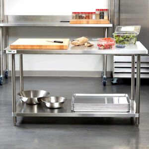 Heavy Duty 30 X 60 All Stainless Steel Work Prep Table Commercial 16 Gauge Nsf