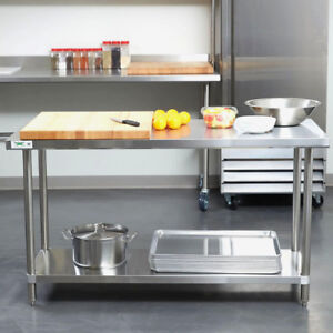 Heavy Duty 24 X 60 All Stainless Steel Work Prep Table Commercial 16 Gauge Nsf