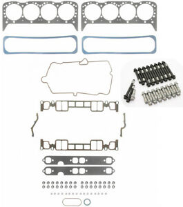 Fel Pro Head Gasket Set Bolts For Mercruiser Chevy Vortec Marine 350 5 7