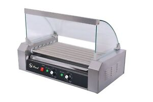 Commercial Hot Dog 7 Roller With Cover