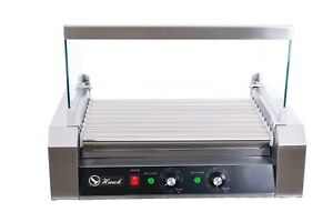 Commercial Hot Dog 9 Roller Grilling Machine With Cover