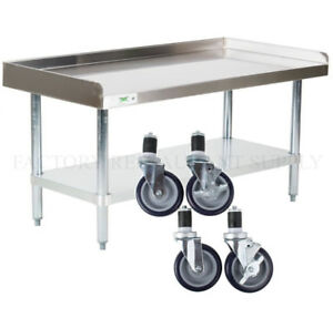 30 X 48 Heavy Equipment Stand W Casters Stainless Steel Table Commercial